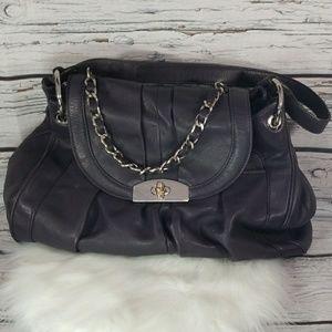 B. Makowsky dark purple satchel shoulder bag